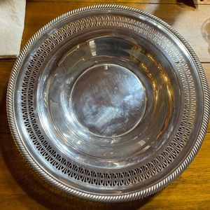 Wm Rogers reticulated bowl vintage